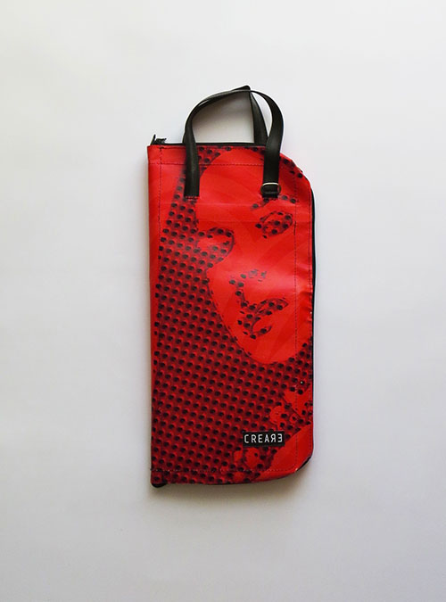handcrafted drumsticks bag made by www.crearebags.com